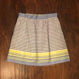 NWOT Loft stripe skirt w/ pockets & elastic waist